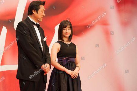 Takeo Hisamatsu, Festival Director Kanna Hashimoto, Tokyo International Film Festival Ambassador