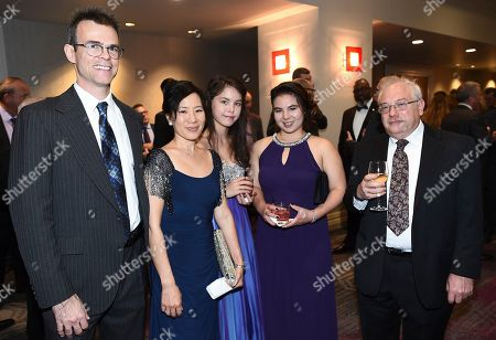 Stock Picture of Colin McDowell, Diana Lee, Sabrina McDowell, Helena McDowell, Robert Filman. Colin McDowell, from left, Diana Lee, Sabrina McDowell, Helena McDowell, and Robert Filman attend the 69th Engineering Emmy Awards, presented by the Television Academy at the Loews Hollywood Hotel on in Hollywood, Calif