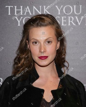 """Elettra Wiedemann attends a special screening of """"Thank You for Your Service"""" at The Landmark at 57 West, in New York"""