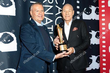 Michael Kutza and Sir Patrick Stewart