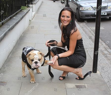 Lucy Clarkson and her dog Buster