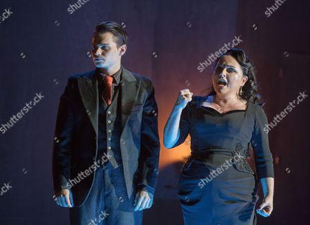 Matt Casey as Flavio, Rebecca Evans as Rodelinda