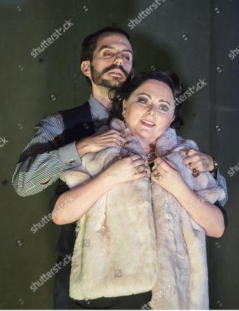 Rebecca Evans as Rodelinda, Juan Sancho as Grimoaldo