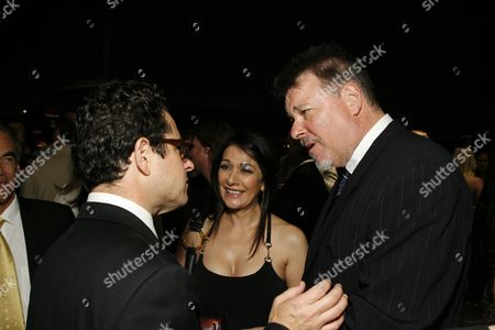 Director/Producer J.J. Abrams, Marina Sirtis & Jonathan Frakes