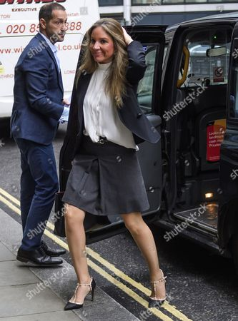 Stock Photo of Nathalie Dauriac-Stoebe arrives at the High Court