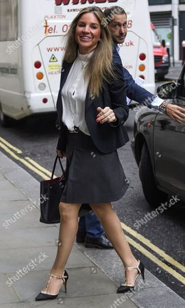 Stock Image of Nathalie Dauriac-Stoebe arrives at the High Court