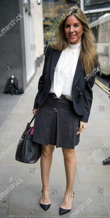 Nathalie Dauriac-Stoebe arrives at the High Court