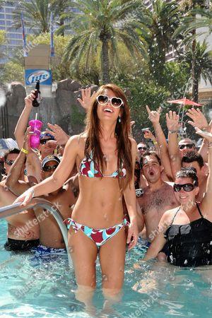 Las Vegas - July 17: Playboy Playmate Laura Croft Hosts at the Flamingo Go Pool Las Vegas July 17 2011 in Las Vegas Nevada People: Laura Croft United States of America Las Vegas