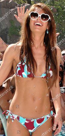 Stock Photo of Las Vegas - July 17: Playboy Playmate Laura Croft Hosts at the Flamingo Go Pool Las Vegas July 17 2011 in Las Vegas Nevada People: Laura Croft United States of America Las Vegas