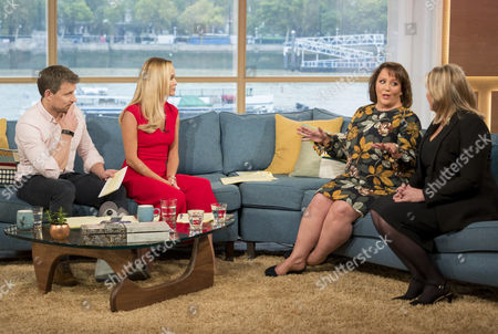 Ben Shephard and Amanda Holden with Claire Muldoon and Christine Cunliffe