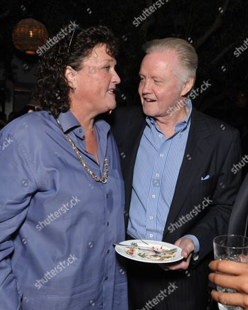 From left, Dot-Marie Jones and John Voight attend The Hollywood Reporter celebration of the Emmy nominees and new fall TV season presented by Samsung Galaxy, Asos, Porsche, Pandora and Ketel One,, at Soho House in West Hollywood, Calif