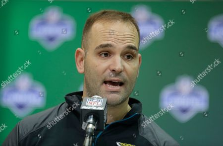 Jacksonville Jaguars general manager David Caldwell speaks during a press conference at the NFL Combine in Indianapolis