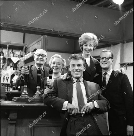 Arthur Leslie (as Jack Walker) and Doris Speed (as Annie Walker), Kenneth Farrington (as Billy Walker), June Barry (as Joan Davies) and Cavan Malone (as Gordon Davies)