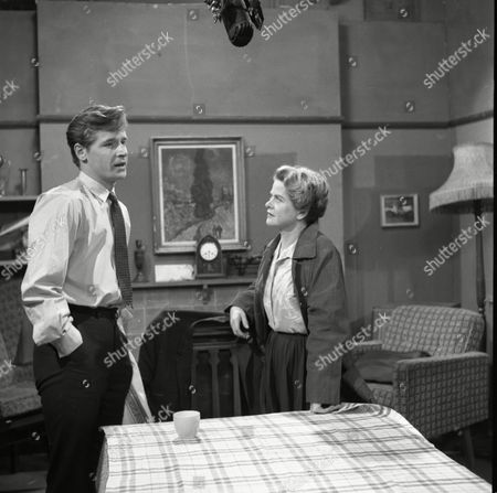 William Roache (as Ken Barlow) and Daphne Oxenford (as Esther Hayes)