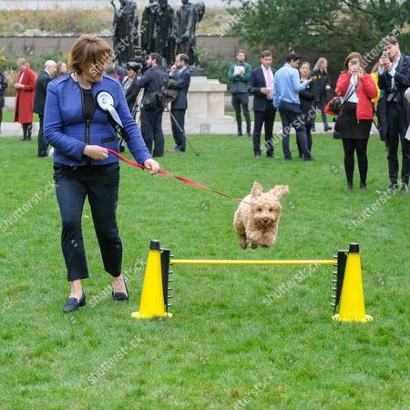 MP Maria Miller and Dog Ted