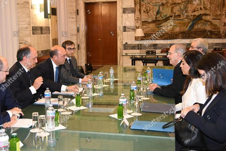 Italian Foreign Affairs Minister Angelino Alfano (3-L) during his meeting with his Cypriot counterpart Ioannis Kasoulides (3-R) in Rome, Italy, 26 October 2017. Kasoulides is on an official visit to Rome.
