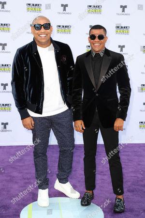 Alexander Delgado and Randy Malcom of Gente de Zona