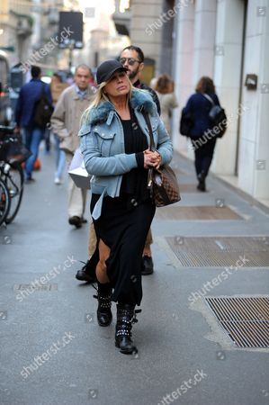 Editorial photo of Lory Del Santo out and about, Milan, Italy - 26 Oct 2017