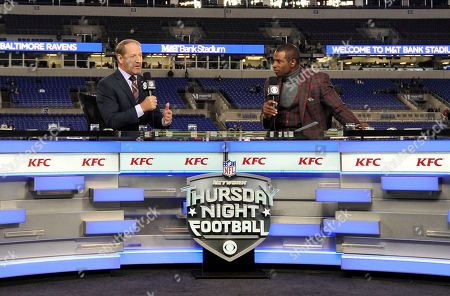 Bill Cowher, Deion Sanders. Bill Cowher, left, and Deion Sanders speak on the Thursday Night Football set before an NFL football game between the Baltimore Ravens and the Miami Dolphins, in Baltimore