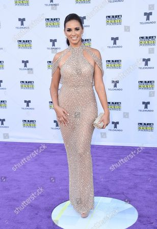 Stock Photo of Ana Flores Jurka arrives at the Latin American Music Awards at the Dolby Theatre, in Los Angeles