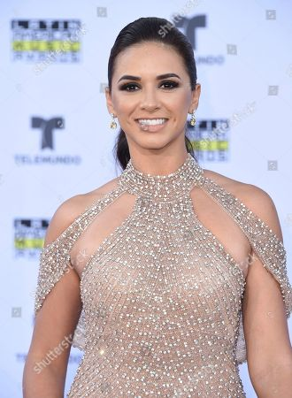 Stock Picture of Ana Flores Jurka arrives at the Latin American Music Awards at the Dolby Theatre, in Los Angeles