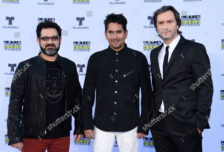 Stock Image of Jose Javier Freire, Jorge Villamizar, Andre Lopes. Jose Javier Freire, Jorge Villamizar, and Andre Lopes of Bacilos arrives at the Latin American Music Awards at the Dolby Theatre, in Los Angeles