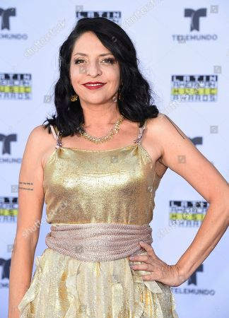Stock Photo of Veronica Falcon arrives at the Latin American Music Awards at the Dolby Theatre, in Los Angeles