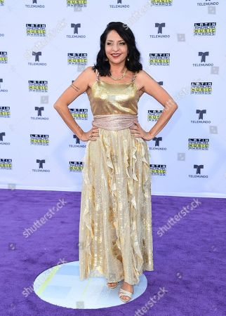 Veronica Falcon arrives at the Latin American Music Awards at the Dolby Theatre, in Los Angeles