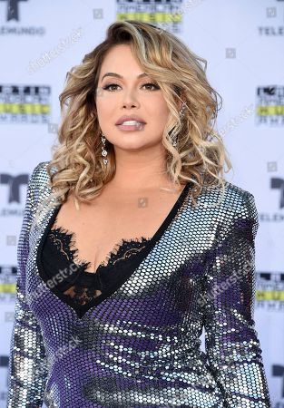 Chiquis Rivera arrives at the Latin American Music Awards at the Dolby Theatre, in Los Angeles