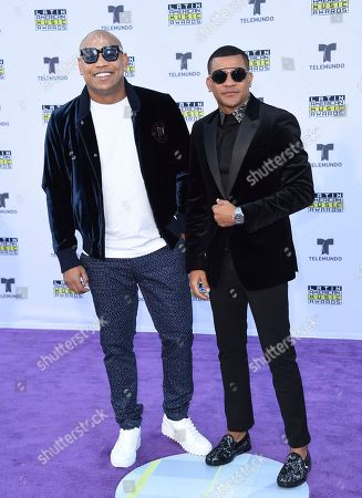 Alexander Delgado, Randy Malcom Martinez. Alexander Delgado, left, and Randy Malcom Martinez of Gente De Zona arrives at the Latin American Music Awards at the Dolby Theatre, in Los Angeles