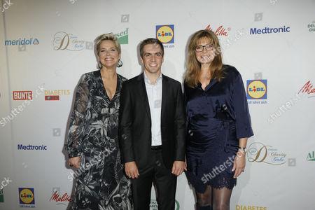 Inka Bause, Philipp Lahm, Maren Gilzer