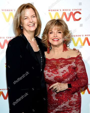 Julie Burton, Pat Mitchell. Women's Media Center president Julie Burton, left, and Pat Mitchell attend The Women's Media Center 2017 Women's Media Awards at Capitale, in New York