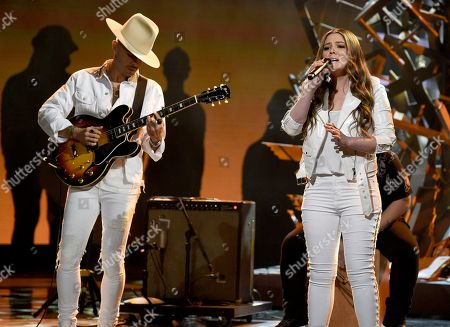 "Jesse Huerta, Joy Huerta. Jesse Huerta, left, and Joy Huerta of "" Jesse & Joy"" perform at the Latin American Music Awards at the Dolby Theatre, in Los Angeles"