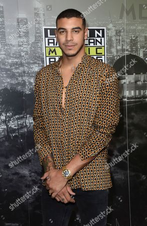 Manuel Medrano poses backstage at the Latin American Music Awards at the Dolby Theatre, in Los Angeles