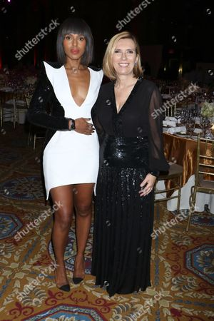 Kerry Washington and Liz Rodbell, president of Lord & Taylor and Hudson's Bay department stores