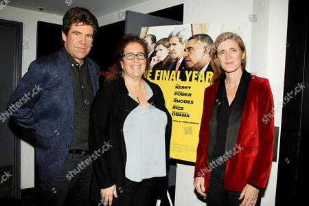 Stock Picture of Gregory Barker (Director / Producer), Julie Goldman and Samantha Power Former (US Ambassador to the UN)