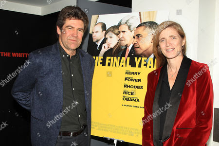 Stock Image of Gregory Barker (Director / Producer) and Samantha Power Former (US Ambassador to the UN)