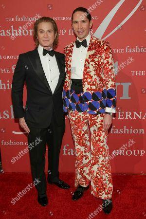 "Eric Javitz, Di Mondo. Eric Javitz, left, and Di Mondo attend The Fashion Group International's ""Night of Stars"" gala at Cipriani Wall Street on Thursday, Oct. 26, in New York"