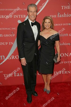 "Terry Lundgren, Tina Lundgren. Honoree Terry Lundgren, left, and Tina Lundgren attend The Fashion Group International's ""Night of Stars"" gala at Cipriani Wall Street on Thursday, Oct. 26, in New York"