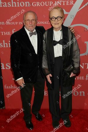 "Stan Herman, Marylou Luther. Stan Herman, left, and honoree Marylou Luther attend The Fashion Group International's ""Night of Stars"" gala at Cipriani Wall Street on Thursday, Oct. 26, in New York"