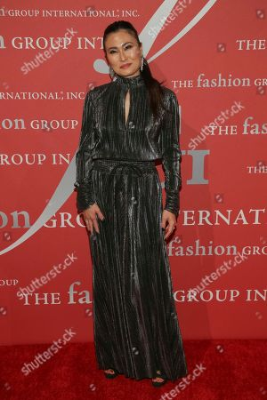 """Sunhee Grinnell attends The Fashion Group International's """"Night of Stars"""" gala at Cipriani Wall Street on Thursday, Oct. 26, in New York"""