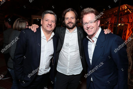 Ted Sarandos, Chief Content Officer for Netflix, Matt Duffer, Creator/Writer/Director/Executive Producer, and Andrew Stanton, Director