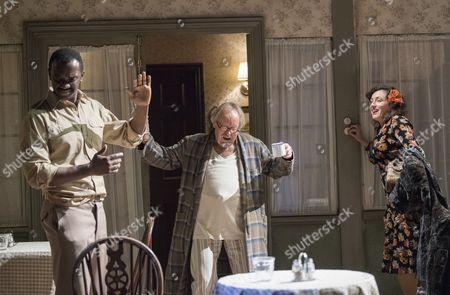 Daon Broni as Dayton Pike, Clive Francis as Mr Thwaites, Lucy Cohu as Vicki Kugelmann,