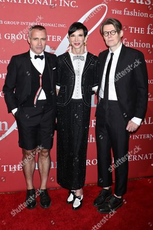 Amy Fine Collins, Thom Browne and Andrew Bolton