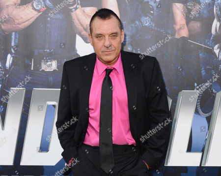 """Actor Tom Sizemore arrives at the premiere of """"The Expendables 3"""" in Los Angeles. Los Angeles County prosecutors, rejected filing felony domestic violence charges against Sizemore over his July 19, 2016, arrest on suspicion that he harmed his girlfriend in their downtown Los Angeles apartment. The case may still be filed as a misdemeanor, but prosecutors cited the minor injuries involved as a reason felony charges would not be filed"""
