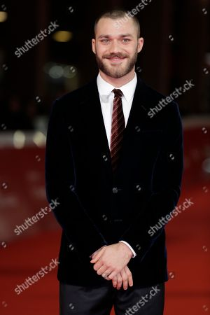 "Actor Lorenzo Richelmy poses on the red carpet on the occasion of the screening of the movie ""Una Questione Privata"", at the 12th edition of the Rome Film Fest, in Rome"