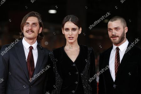 Luca Marinelli, Lorenzo Richelmy and Valentina Belle