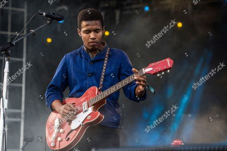 Benjamin Booker performs at the Voodoo Music Experience in City Park, in New Orleans