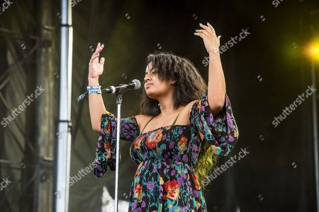 BiBi Bourelly performs at the Voodoo Music Experience in City Park, in New Orleans