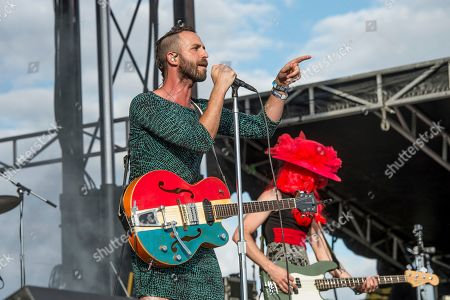 Stock Picture of Mondo Cozmo, Joshua Keith Ostrander. Mondo Cozmo performs at the Voodoo Music Experience in City Park, in New Orleans